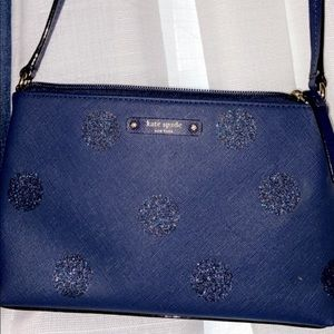 Navy cross bag with sparkly circles